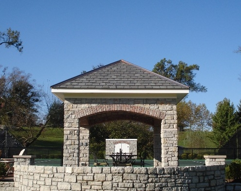 Stone landscape structure